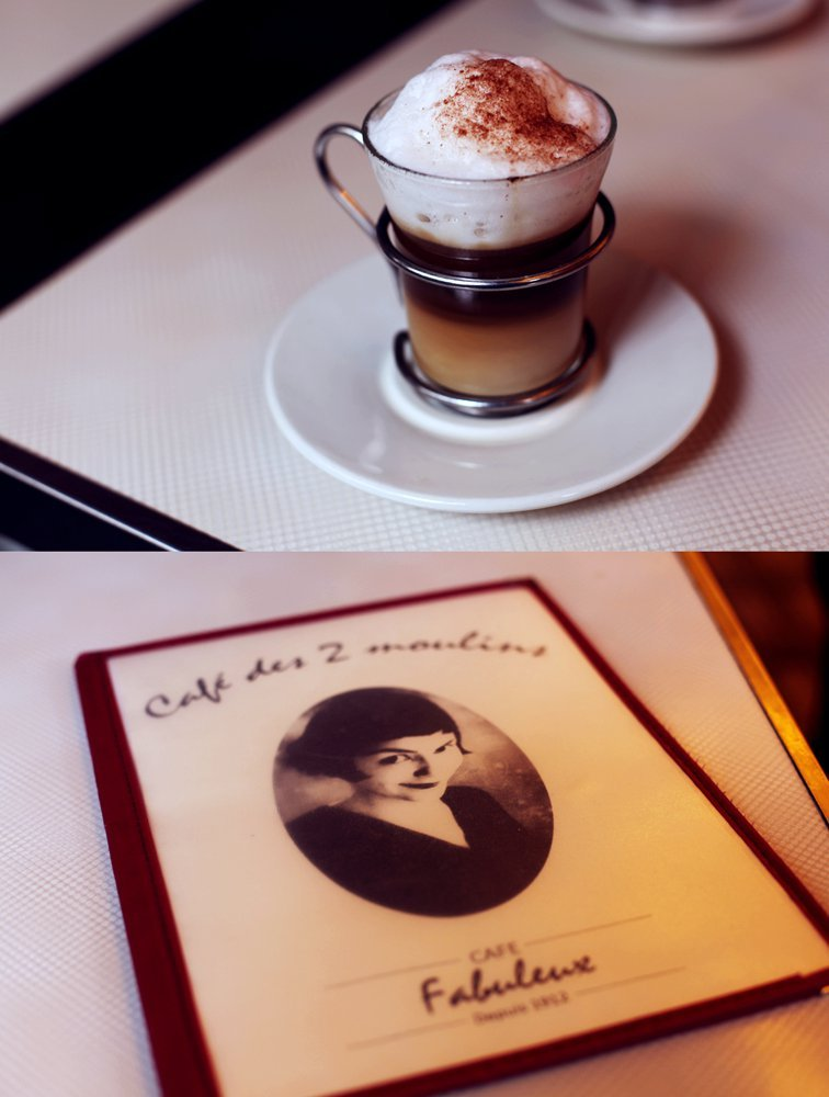 Visiting The Cafe des Deux Moulins from Amelie and having a cappuccino. I also had breakfast with a side of creme brulee, because…that's normal, right? Paris, France. August, 2011.