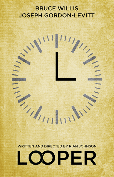 Looper Minimalist Art Print - Poster Inspired by the Rian Johnson film 'Looper' - 11x17 - $12.99 - http://etsy.me/SrZL9D