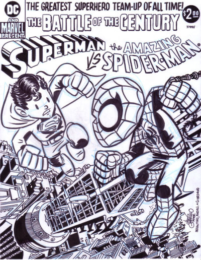 brianmichaelbendis:  Superman versus Spiderman by Chris Giarrusso