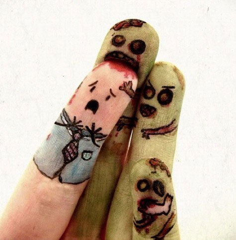 I'm glad my fingers are not zombies.