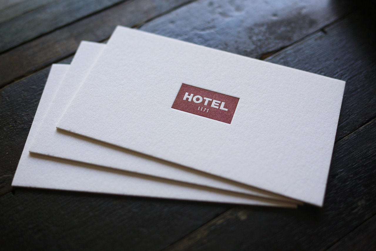 I believe letterpress printing excels at simplicity - These cards are a great example. Printed for Hotel 1171 on 220lb Crane Lettra.