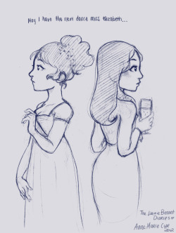 Quick sketch of two Elizabeths. The story is progressing…. hohoho.  I referenced the dress from the 2005 movie. I really like the costumes in that version. ( I also like the 1995 version…actually I like all the versions… ) Pride and Prejudice. <3 Also…omg I'm struggling to draw profiles…O.O This could have turned out better but it's ok. :) I have been working on a Charlotte drawing for a while now… But i screwed up the coloring… and then i screwed up my attempt to fix it T_T… I'll try again. I'm sorry.
