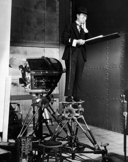 Buster Keaton on the MGM sound stage used for Speak Easily (1932) (via)