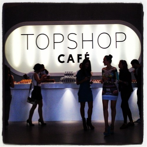 Fueling up at the Topshop  Cafe. BRB. #LFW  (Taken with Instagram)