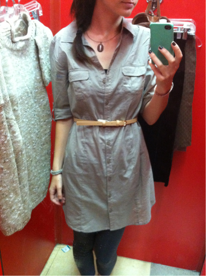My new shirt dress that I love from Forever 21.