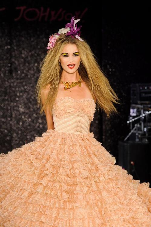 My favorite dress from Betsey Johnson's Spring/Summer 2013 show. (Image via Fashionising)