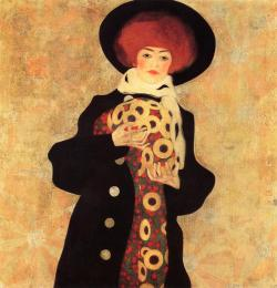 Egon Schiele Woman with Black Hat 1909 Oil on canvas