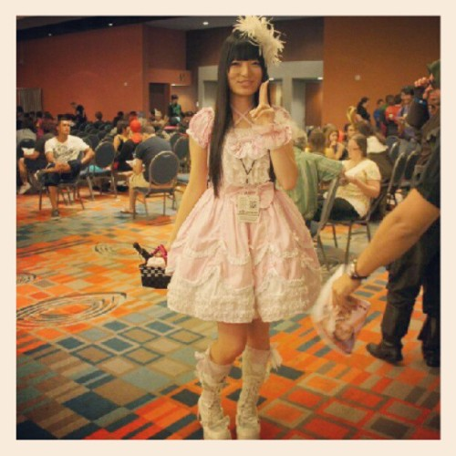 Manga girl #anime #comiccons #girl #manga (Taken with Instagram at Miami Airport Convention Center)