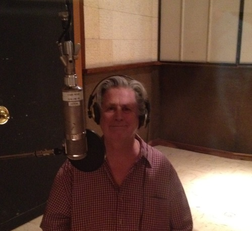 Brian Wilson at the mic, ready to make more music!