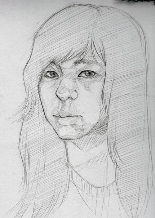 saz-mode:  30 minutes self portrait done for class.Not bad if I say so myself