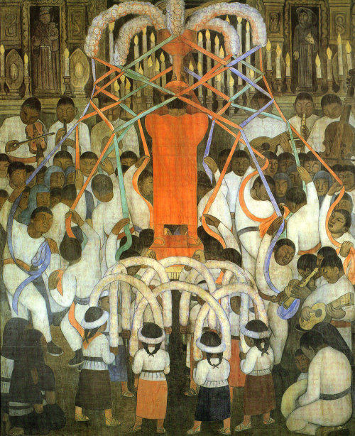 surrealappeal:  Diego Rivera, Ribbon Dance, 1924.