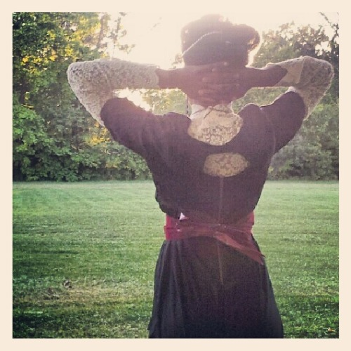 Julia #posing in the #park on a Saturday evening  #sunset #Detroit