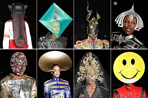 darklamb:  Philip Treacy's Spring 2013 show in London… was rather a to do. (Image via NYTimes)