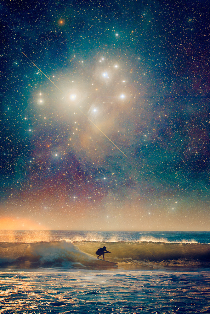 Another pioneer of celestial surfing. Art prints available here or by request. More from this series here. Thanks to NASA for their beautiful images of the cosmos.
