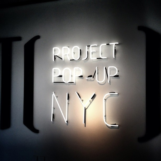 Project POP-UP NYC. Light, camera, fashion. @projectpopupnyc #fashion #popup #nyc #light #newyorkcity  (Taken with Instagram at STORY)