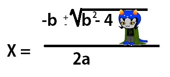 whatpumpkinjuice:  The quadratic formula.