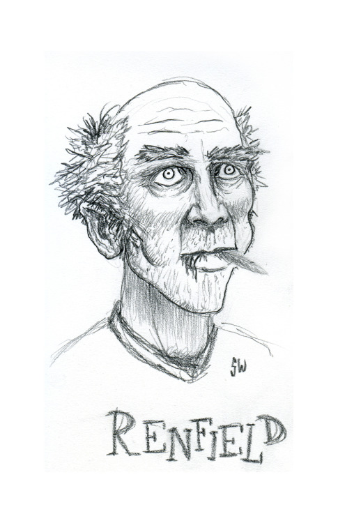 R is for Renfield, by Sam Wolk, from Bram Stoker's 1897 gothic horror classic, Dracula.