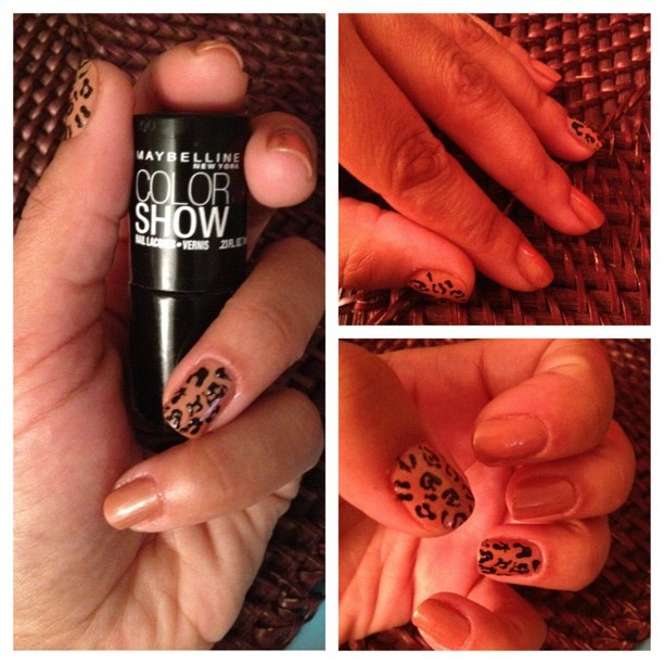 New cheetahlicious nails! #picstitch #instanails #instanew #ignails #instacat (Taken with Instagram)