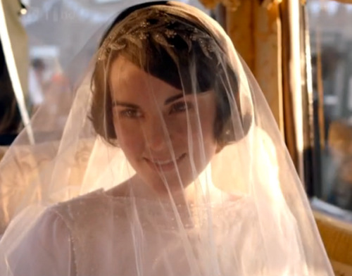 Lady Mary's wedding ensemble did not disappoint.