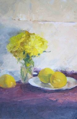 Still Life with Lemons, Oil Paining  2011