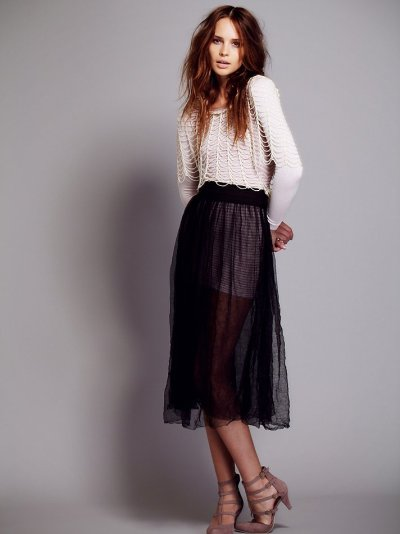 what-do-i-wear:  Raw Tulle Skirt, available from freepeople
