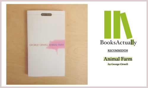 "// BOOKSACTUALLY RECOMMENDS // Animal Farm by George Orwell ""After this they went back to the farm buildings, where Snowball and Napoleon sent for a ladder which they caused to be set against the end wall of the big barn. They explained that by their studies of the past three months the pigs had succeeded in reducing the principles of Animalism to Seven Commandments. These Seven Commandments would now be inscribed on the wall; they would form an unalterable law by which all the animals on Animal Farm must live for ever after. With some difficulty (for it is not east for a pig to balance himself on a ladder), Snowball climbed up and set to work, with Squealer a few rungs below him holding the paint-pot. The Commandments were written on the tarred wall in great white letters that could be read thirty yards away. They ran thus: THE SEVEN COMMANDMENTS 1. Whatever goes upon two legs is an enemy. 2. Whatever goes upon four legs, or has wings, is a friend. 3. No animal shall wear clothes. 4. No animal shall sleep in a bed. 5. No animal shall drink alcohol. 6. No animal shall kill any other animal. 7. All animals are equal."""
