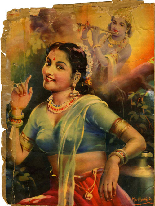 Sarojinidevi as Radha, magazine illustration, date unknown