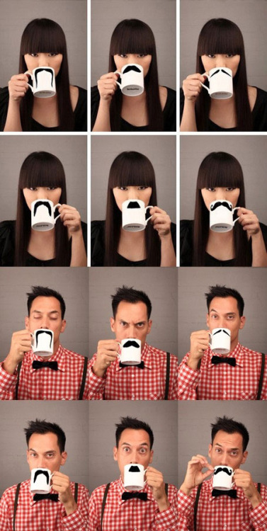 Best mugs ever! bryanbolanos:  Mustache Mugs Are Classy