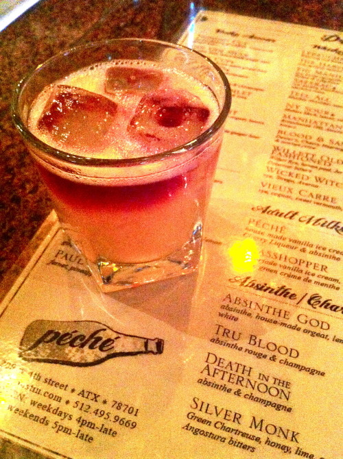 Peche's downtown Austin! A great southern old-time atmosphere and even better drinks! Yay for wine floaters!
