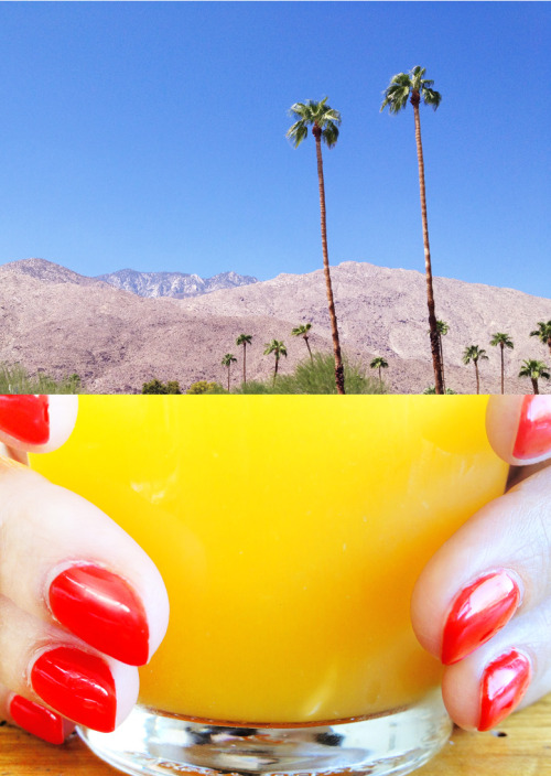 photojojo:  A rad photo pairing of Palm Springs from Chris Heads' 365 Tumblr!