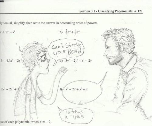 serisafitz-james:  an old doodle i found in my math textbook