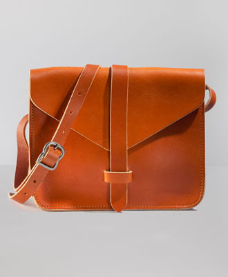 (via Levi's Modern Saddle Bag - Warm Orange - Bags & Wallets)