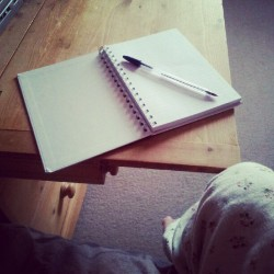 Early morning writing moment.  (Taken with Instagram)