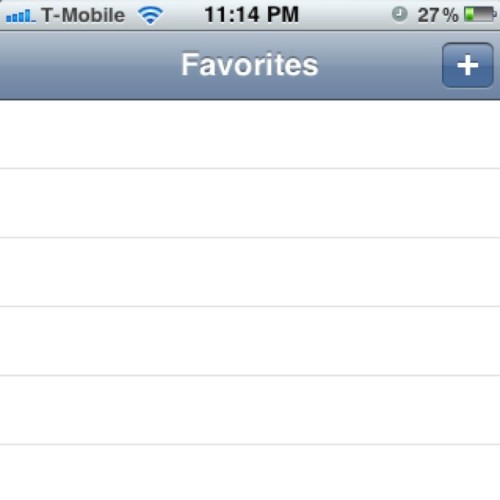 Ain't nobody in my favorites anymore haha. #nolove (Taken with Instagram)