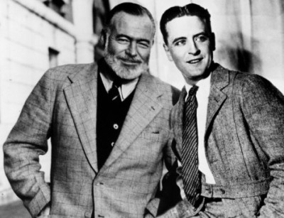 men of many words. hemingway & fitzgerald. currently reading their classics and imagining their fictional and true-life worlds.