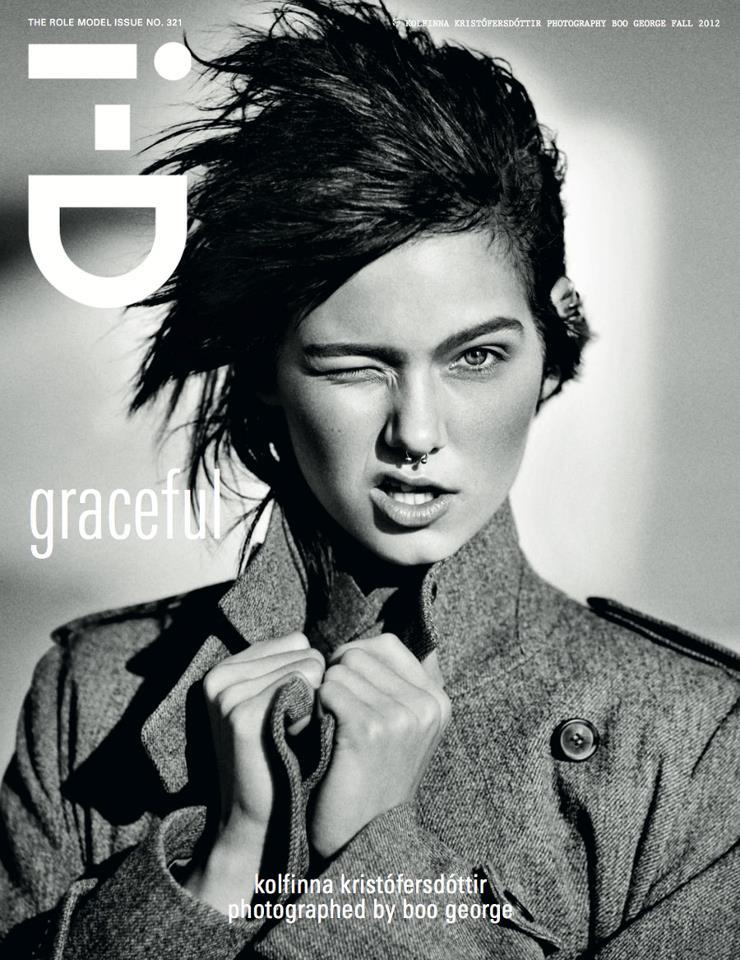 Kolfinna Kristófersdóttir covers i-D Fall 2012 photographed by Boo George
