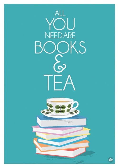 tinywhitedaisies:  justbesplendid:  books and tea  For you Mrs Pugh!