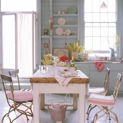 paneled shabby kitchen