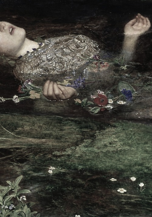 John Everett Millais, Ophelia (detail), 1851-52   O-feel-ya so bad for yourself.  What are you doing?