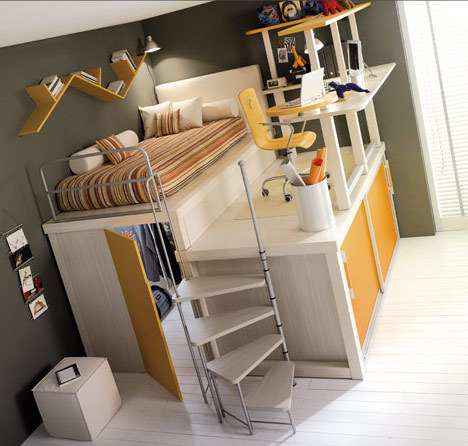 homedesigning:  Bunk Beds and Lofts for Teenagers and Kids