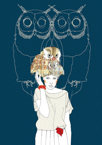 Owls Art Print by Ramona Ring