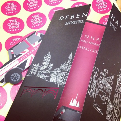 9 days to go! #debenhams #kemang #village #opening #pink #invitation (Taken with Instagram)