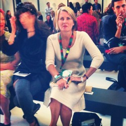 Julia Robson wore our Hannah Dress to the Paul Smith show at London Fashion Week. Anyone else snaffle this cream dream? #LFW (Taken with Instagram)