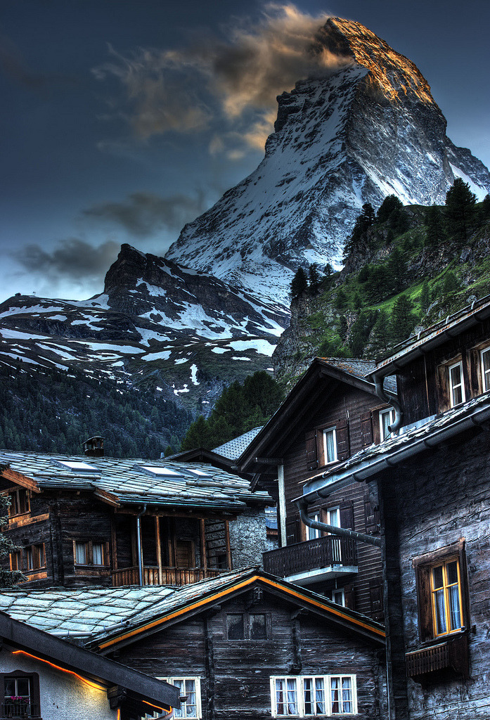 Matterhorn from Zermatt, Switzerland (via Landscape, Lifescape)