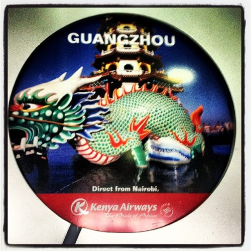 Nairobi - Guangzhou direct flight (Taken with Instagram at Jomo Kenyatta International Airport (NBO))