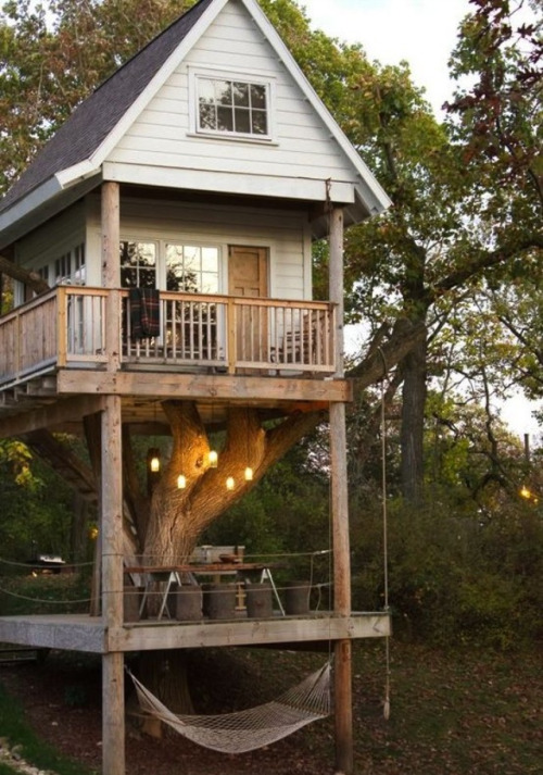 ♕ ♕ ♕ ♕   It's a legit muthafuckin tree house. I want this because of reasons. All the reasons.