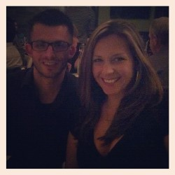 Steven & I at Mom's 50th birthday dinner @ RPM (Taken with Instagram)