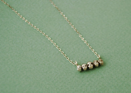 hoveringcat:  This tiny sterling silver skull necklace is made by Datter Industries (AKA Kaye Blegvad) and it is wonderful.