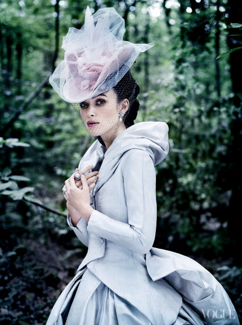 bohemea:  Keira Knightley: Poise and Passion - Vogue by Mario Testino, October 2012