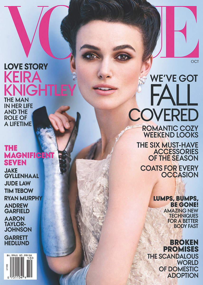 Keira Knightley on Vogue's October Cover On newsstands nationwide September 25. Also available as a digital download for the iPad®, Kindle Fire, NOOK Color™, and NOOK Tablet™.See more photos on Vogue.com